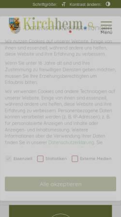 Vorschau der mobilen Webseite www.kirchheim-heimstetten.de, Gemeinde Kirchheim-Heimstetten