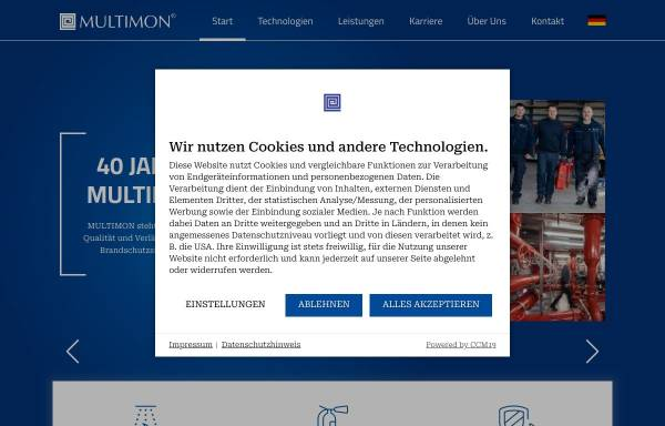 Vorschau von www.multimon.info, Multimon Industrieanlagen GmbH