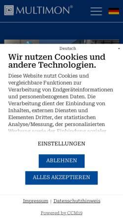 Vorschau der mobilen Webseite www.multimon.info, Multimon Industrieanlagen GmbH