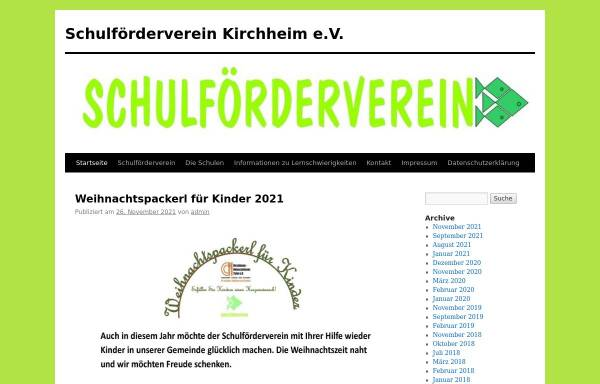 Vorschau von www.sfv-kirchheim.de, Schulförderverein Kirchheim b. München e.V.