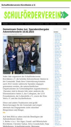 Vorschau der mobilen Webseite www.sfv-kirchheim.de, Schulförderverein Kirchheim b. München e.V.