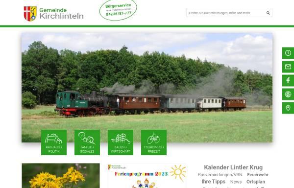 Vorschau von www.kirchlinteln.de, Gemeinde Kirchlinteln
