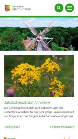 Vorschau der mobilen Webseite www.kirchlinteln.de, Gemeinde Kirchlinteln