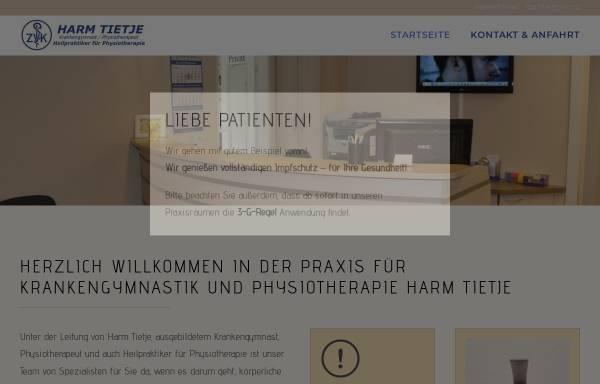 Vorschau von www.krankengymnastik-kirchlinteln.de, Krankengymnastik Harm Tietje