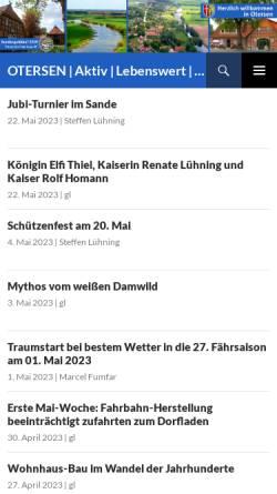 Vorschau der mobilen Webseite www.otersen.de, Otersen