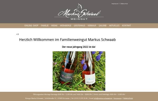 Vorschau von www.markus-schwaab.de, Weingut Markus Schwaab