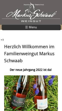 Vorschau der mobilen Webseite www.markus-schwaab.de, Weingut Markus Schwaab