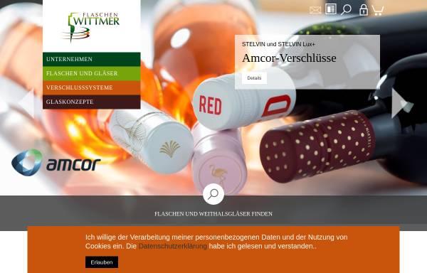 Vorschau von www.flaschenwittmer.de, Wittmer GmbH & Co.KG - Flaschengroßhandlung