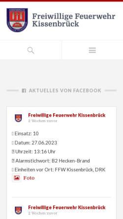 Vorschau der mobilen Webseite fw-kissenbrueck.de, Feuerwehr Kissenbrück