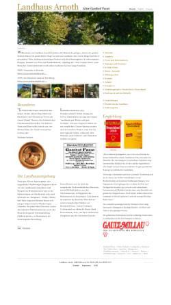 Vorschau der mobilen Webseite www.landhaus-arnoth.de, Landhaus Arnoth