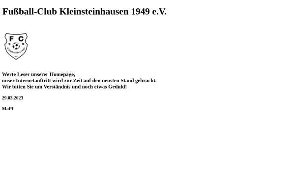 Vorschau von www.fckleinsteinhausen.de, Fußball-Club Kleinsteinhausen 1949 e.V.