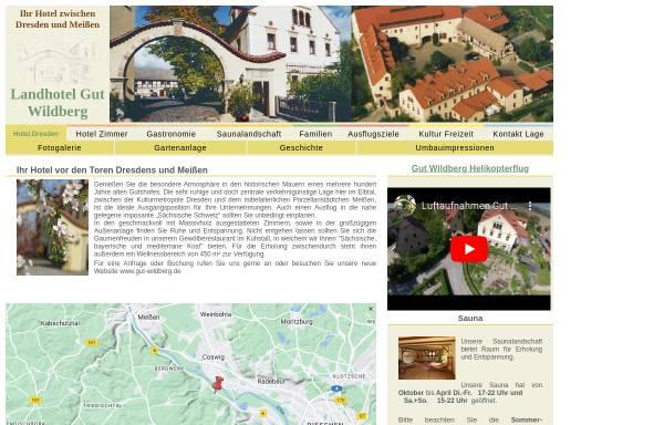 Vorschau von www.dresden-meissen-hotel.de, Landhotel Gut Wildberg