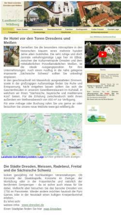 Vorschau der mobilen Webseite www.dresden-meissen-hotel.de, Landhotel Gut Wildberg