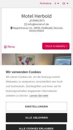 Vorschau der mobilen Webseite www.motel-a7.de, Motel Herbold