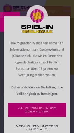 Vorschau der mobilen Webseite www.spiel-in.de, SPIEL-IN