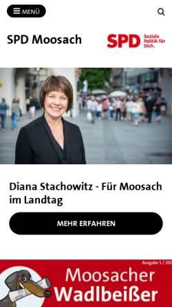 Vorschau der mobilen Webseite spd-moosach.de, SPD Moosach