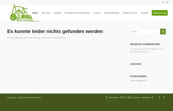 Vorschau von www.brettmuehle.com, Gasthof & Pension Brettmühle