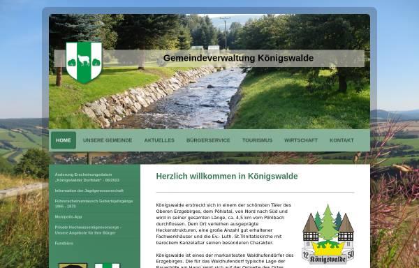 Vorschau von www.koenigswalde.de, Gemeinde Königswalde