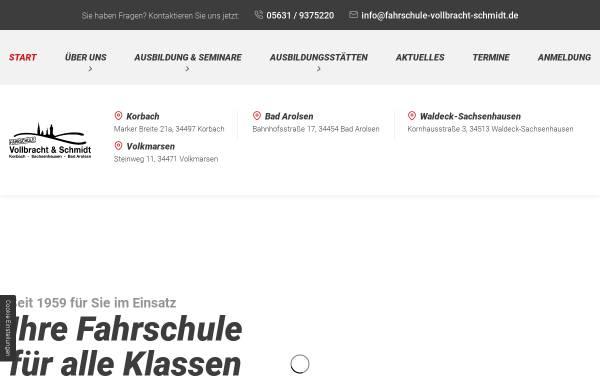 Vorschau von www.fahrschule-vollbracht-schmidt.de, Fahrschule Vollbracht und Schmidt
