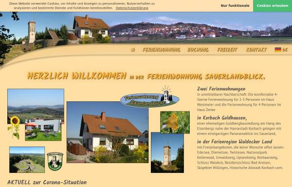 Vorschau von www.ferienwohnung-sauerlandblick.de, Ferienwohnung Sauerlandblick