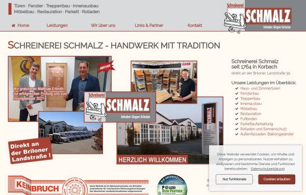 Vorschau von www.schreinerei-schmalz.de, Schreinerei Schmalz