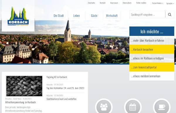 Vorschau von www.korbach.de, Stadt Korbach