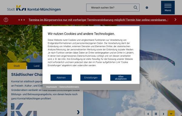 Vorschau von www.korntal-muenchingen.de, Stadt Korntal-Münchingen