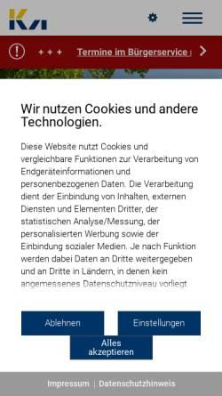 Vorschau der mobilen Webseite www.korntal-muenchingen.de, Stadt Korntal-Münchingen