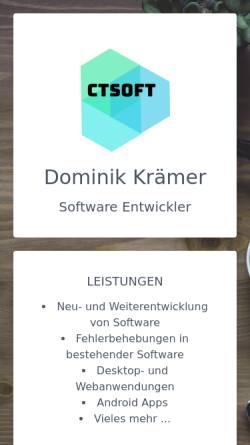 Vorschau der mobilen Webseite www.ctsoft.de, CT Soft
