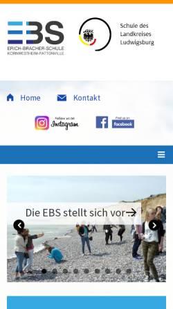 Vorschau der mobilen Webseite www.erich-bracher-schule.de, Erich-Bracher-Schule
