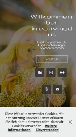 Vorschau der mobilen Webseite www.kreativmodus.de, Markus Schultz - Fotografie & Fotodesign