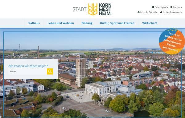 Vorschau von www.kornwestheim.de, Stadt Kornwestheim