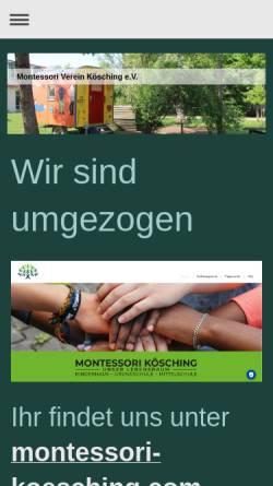 Vorschau der mobilen Webseite www.montessori-koesching.de, Montessori-Verein Kösching e. V.
