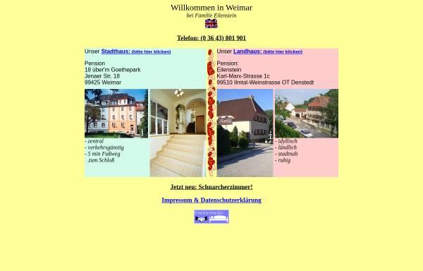 Vorschau von www.pensionen-weimar.de, Pensionen Eilenstein