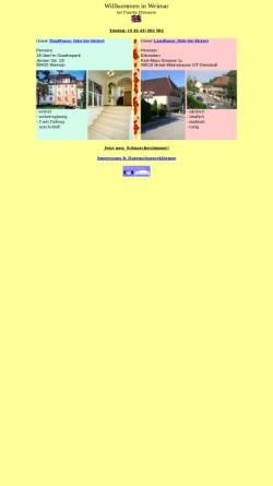 Vorschau der mobilen Webseite www.pensionen-weimar.de, Pensionen Eilenstein