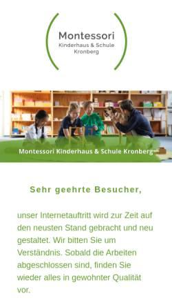 Vorschau der mobilen Webseite www.montessori-kronberg.de, Montessori-Schule und Kinderhaus Kronberg