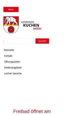 Gemeinde Kuchen Kuchen Stadte Und Gemeinden Kuchen De
