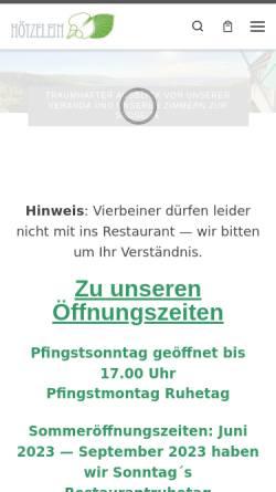 Vorschau der mobilen Webseite www.berg-gasthof.de, Berg-Gasthof Hötzelein