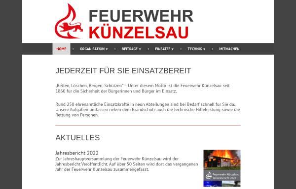 Vorschau von www.feuerwehr-kuenzelsau.de, Freiwillige Feuerwehr Künzelsau