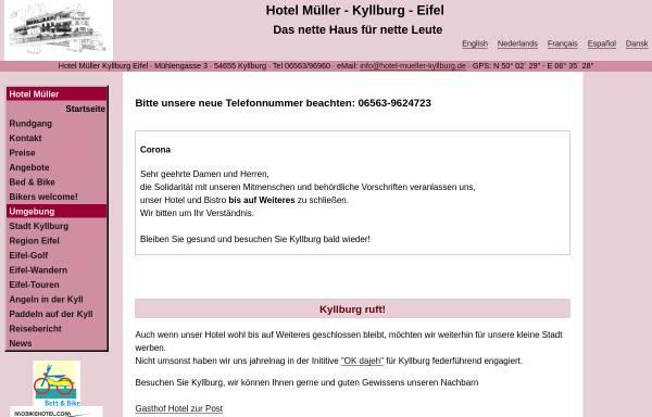 Vorschau von www.mueller-kyllburg.de, Hotel Müller