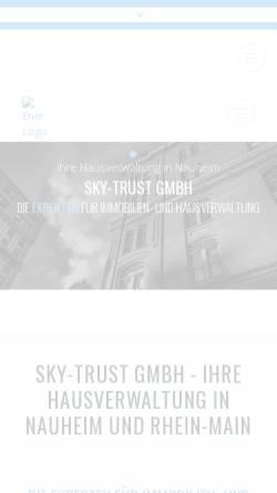Vorschau der mobilen Webseite www.sky-trust.de, Sky Trust GmbH