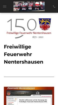 Vorschau der mobilen Webseite www.feuerwehr-nentershausen.de, Freiwillige Feuerwehr Nentershausen