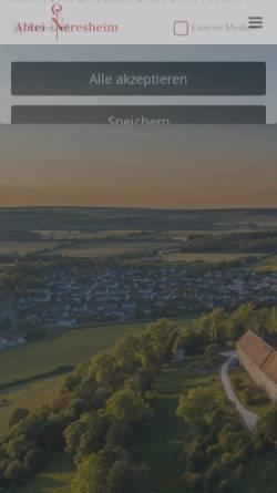 Vorschau der mobilen Webseite www.abtei-neresheim.de, Kloster Neresheim