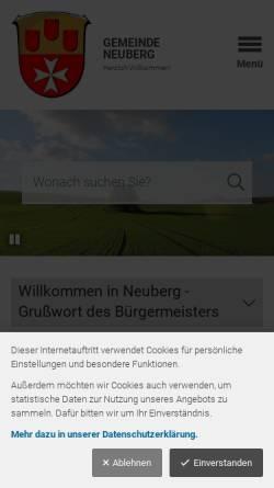 Vorschau der mobilen Webseite neuberg.eu, Gemeinde Neuberg