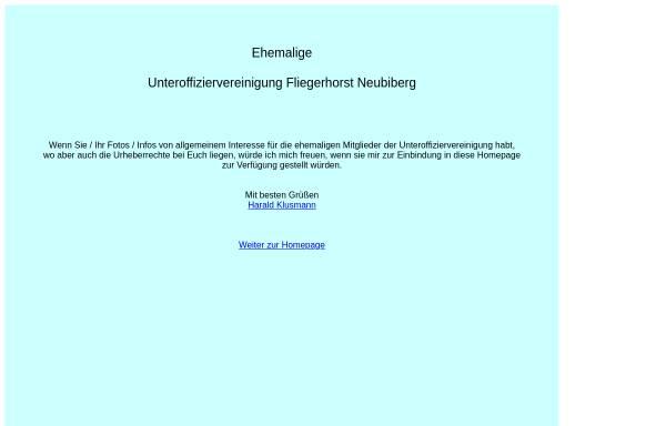 Vorschau von uhneubiberg.gmxhome.de, Standort-Unteroffizierverein Fliegerhorst Neubiberg e.V