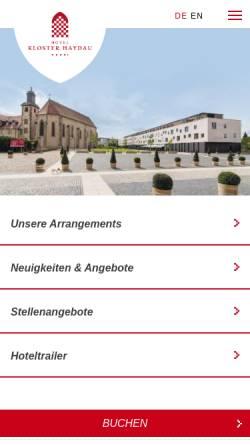 Vorschau der mobilen Webseite www.hotel-kloster-haydau.de, Kloster Haydau