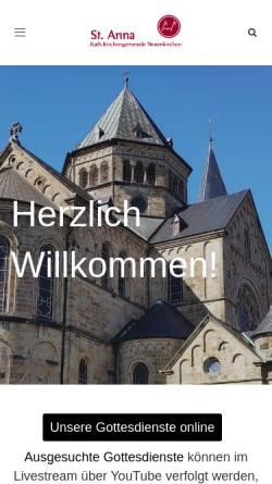 Vorschau der mobilen Webseite st-anna-neuenkirchen.de, St. Anna Neuenkirchen