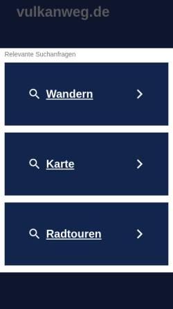 Vorschau der mobilen Webseite www.vulkanweg.de, Der Vulkanweg