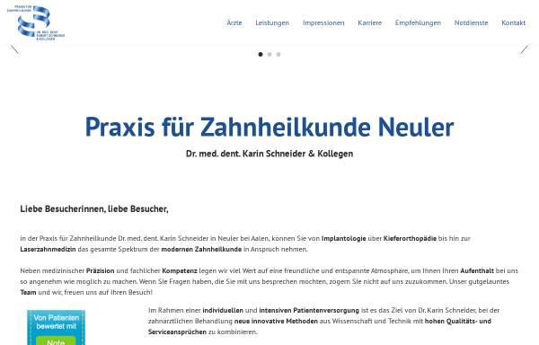 Vorschau von www.zahnarzt-neuler.de, Zahnarzt Dr. Schneider