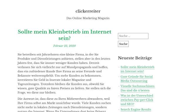 Vorschau von www.clickerreiter.de, Pferdetrainerin Christiane Müller